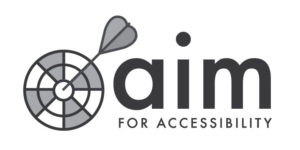 Aim for Accessibility Logo.