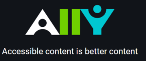 Ally Logo - Accessible Content is Better Content.