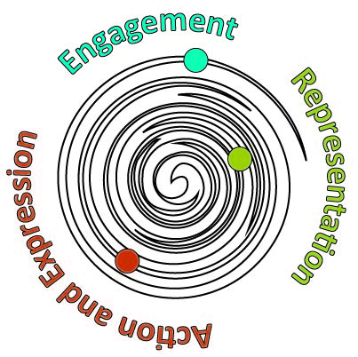 Universal Design for Learning galaxy - Engagement, Representation, Action and Expression