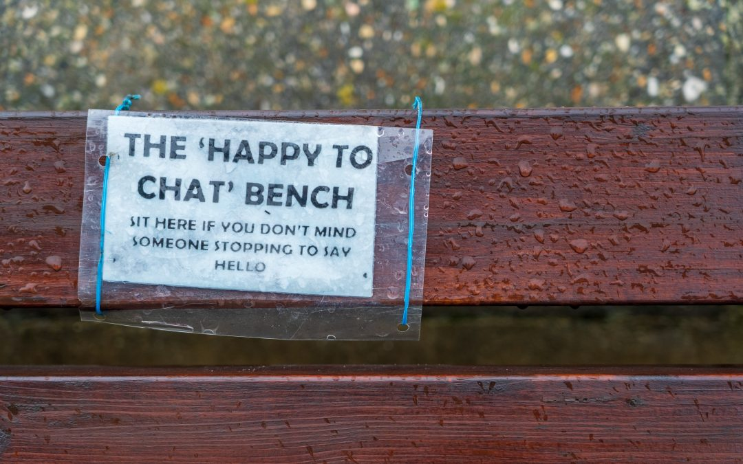 Note on a park bench